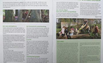 Alweer een prachtig artikel over onze groene school. Prachtig verwoord door Magda De Wolf. (Dendriet, oktober/november/december 2020)