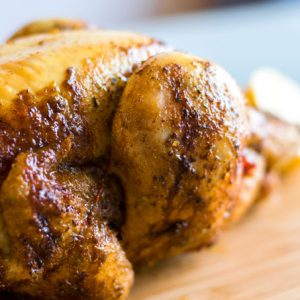 Kip aan 't spit – gezinspakket (optie rode wijn)